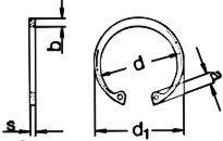 кольцо стопорное размеры